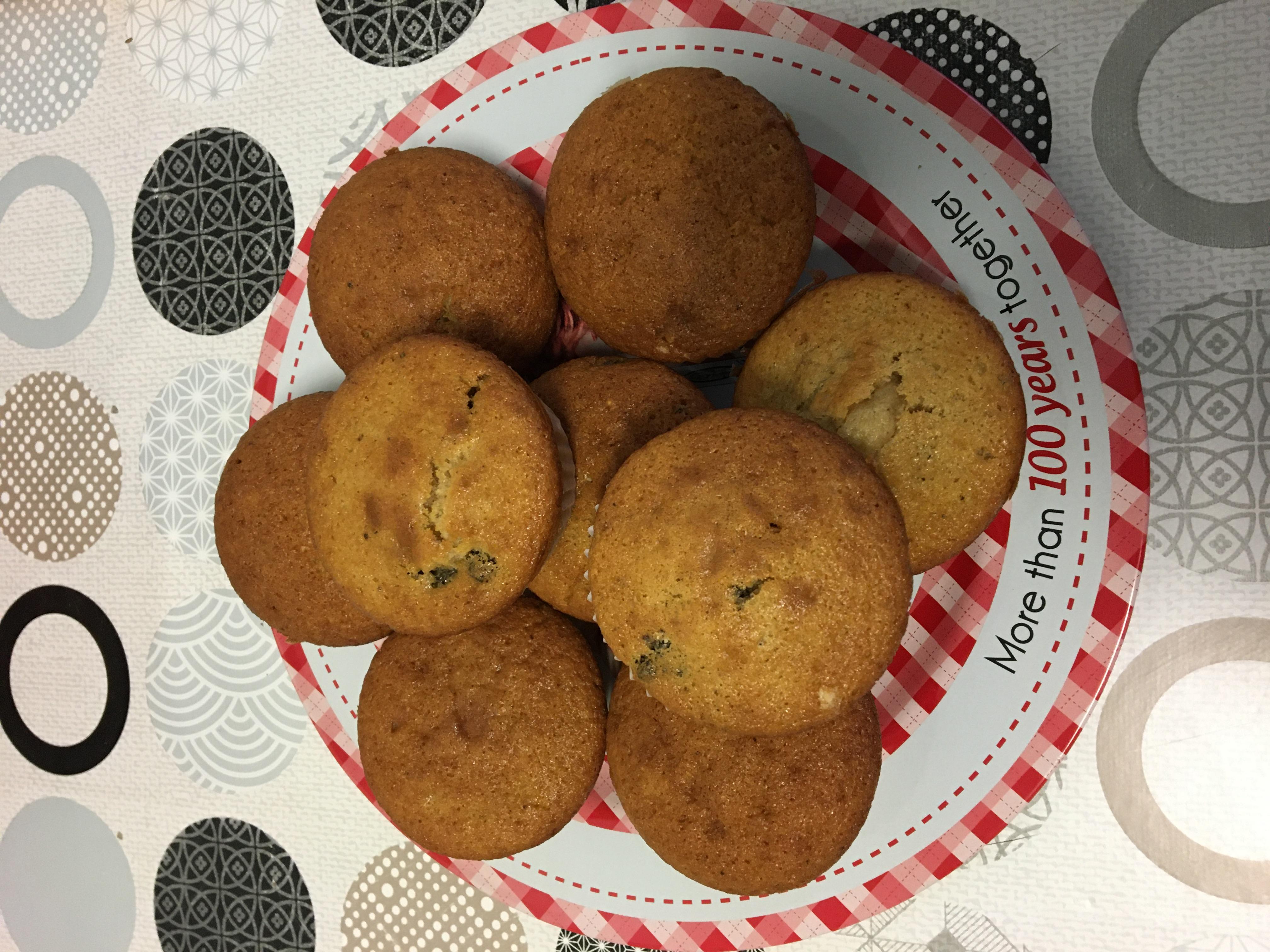 Muffin vainilla y oreo