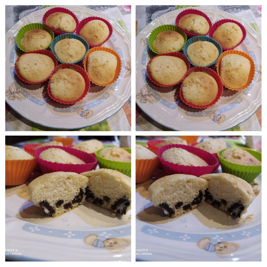 Muffins de Oreo y vainilla