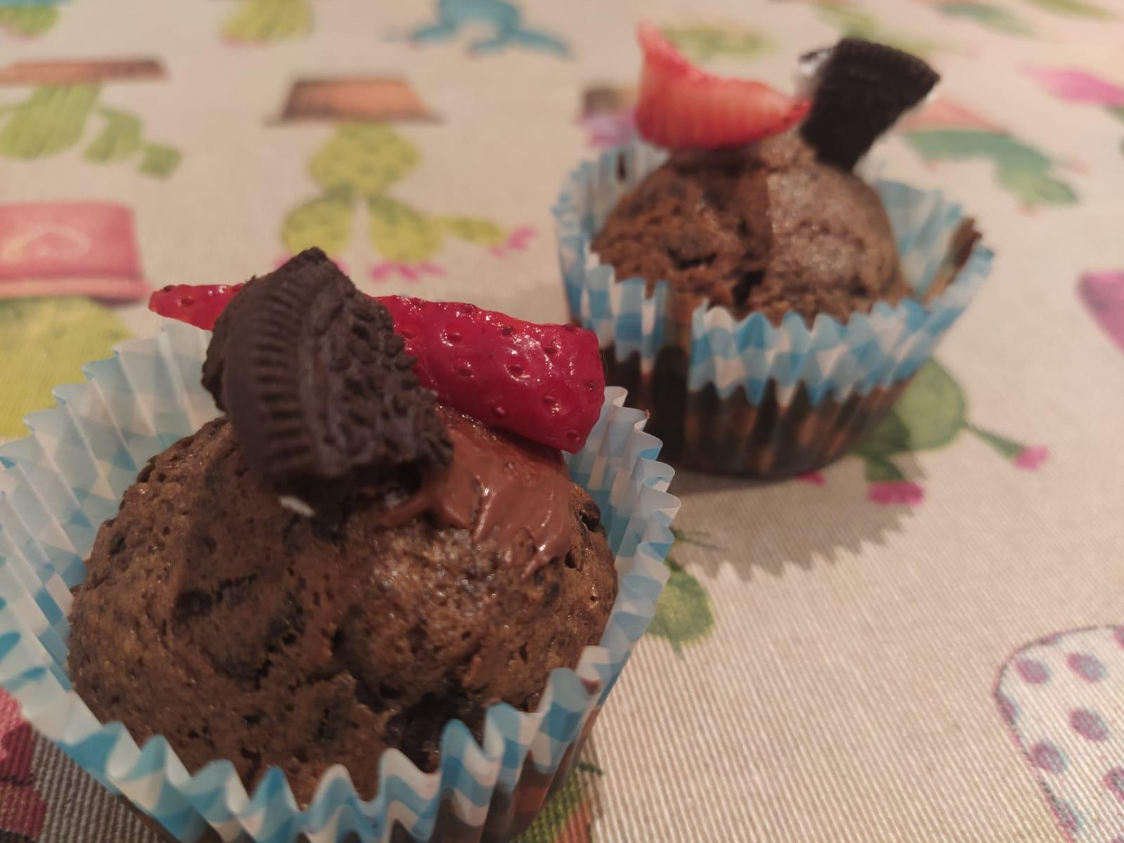 Presentación de la receta de Cupcakes oreo y fresa