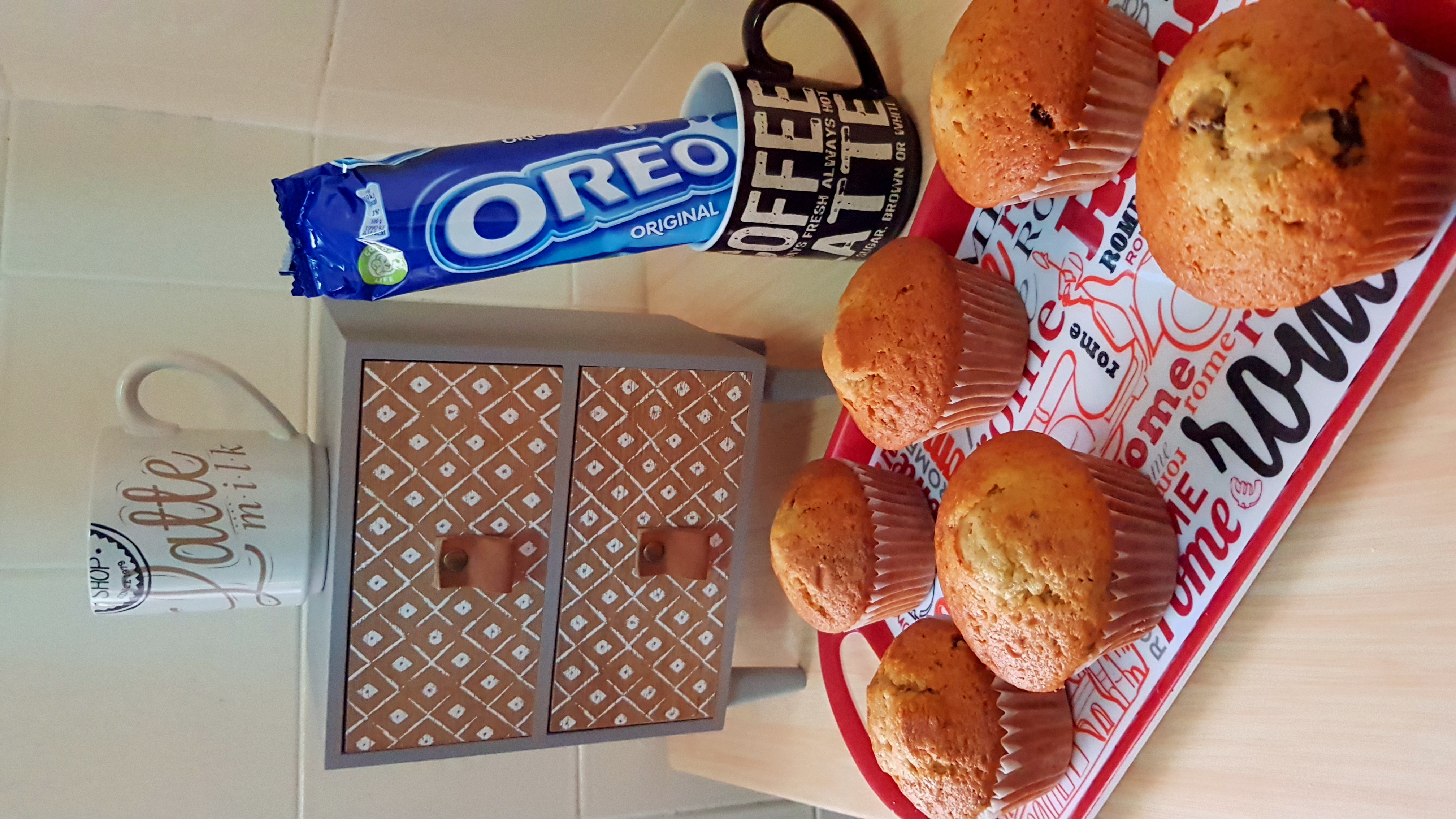 Presentación de la receta de Muffin vainilla y ore