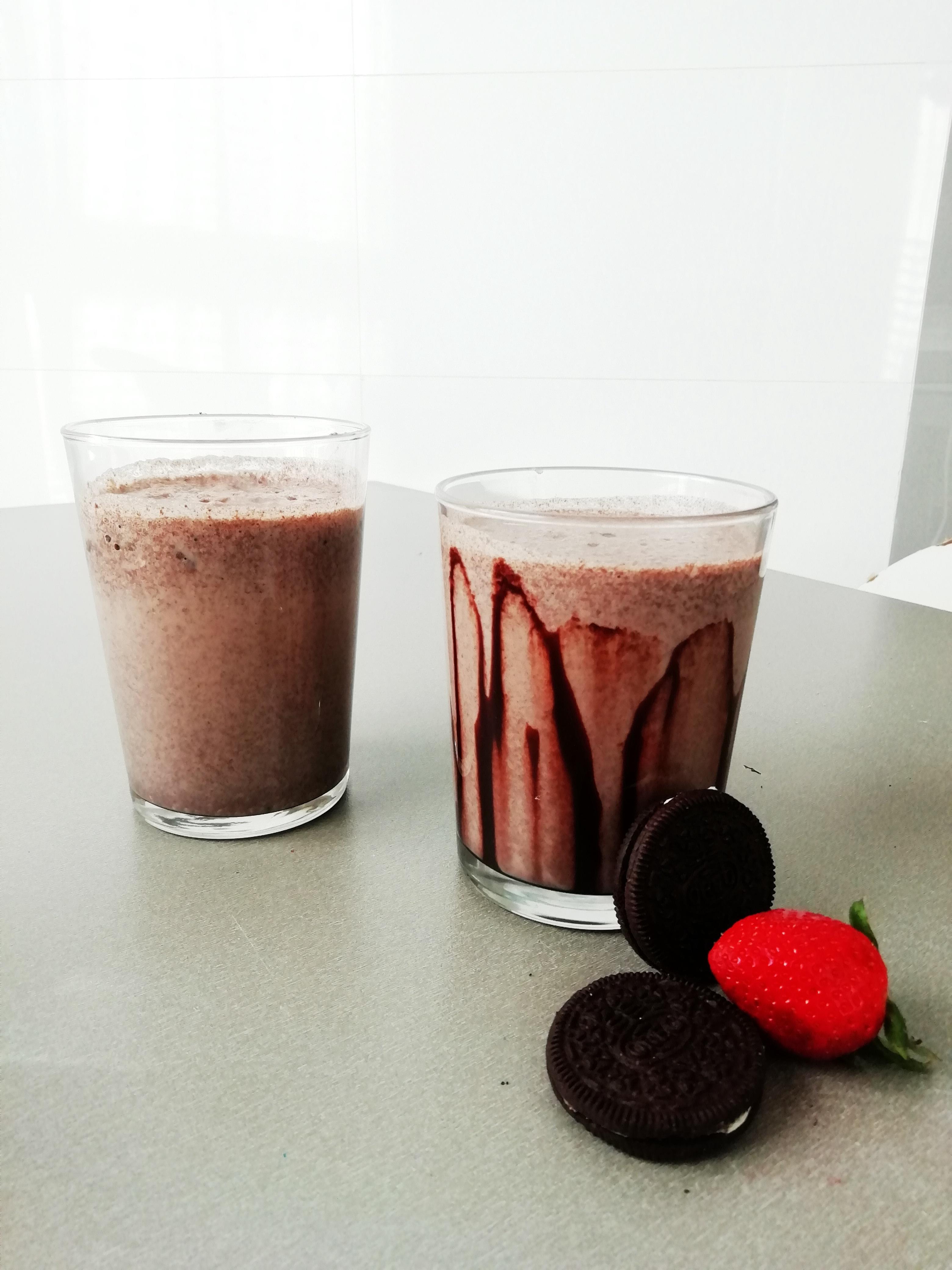 milkshake de oreo fresas y plátano