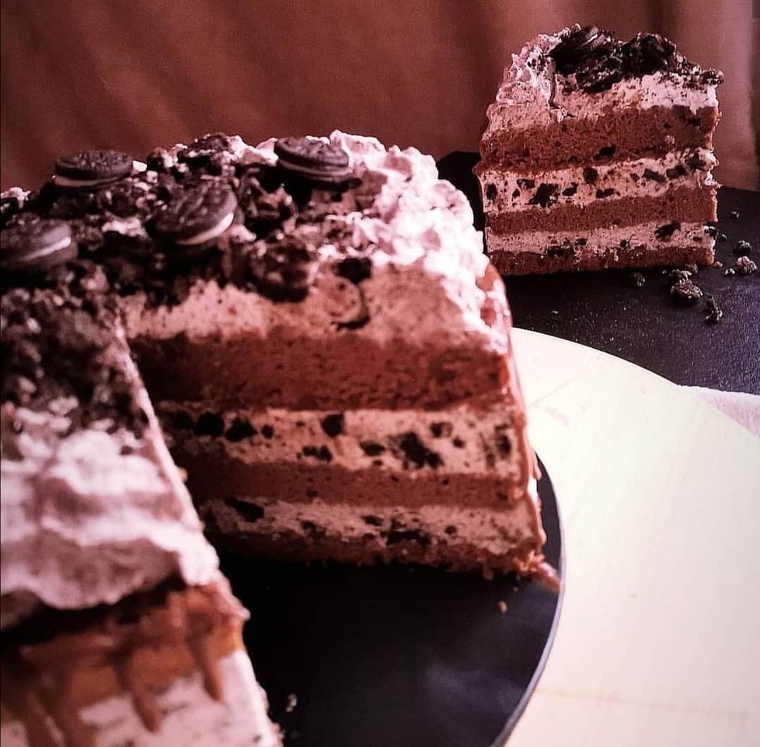 Presentación de la receta de Tarta helada de oreo