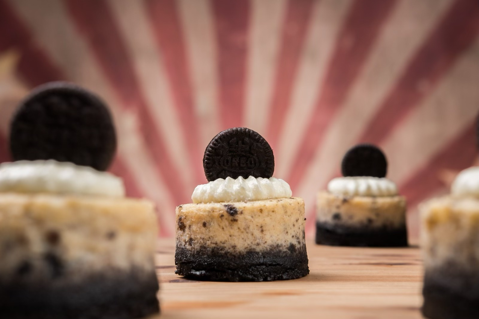 Cheesecakes de oreo mini