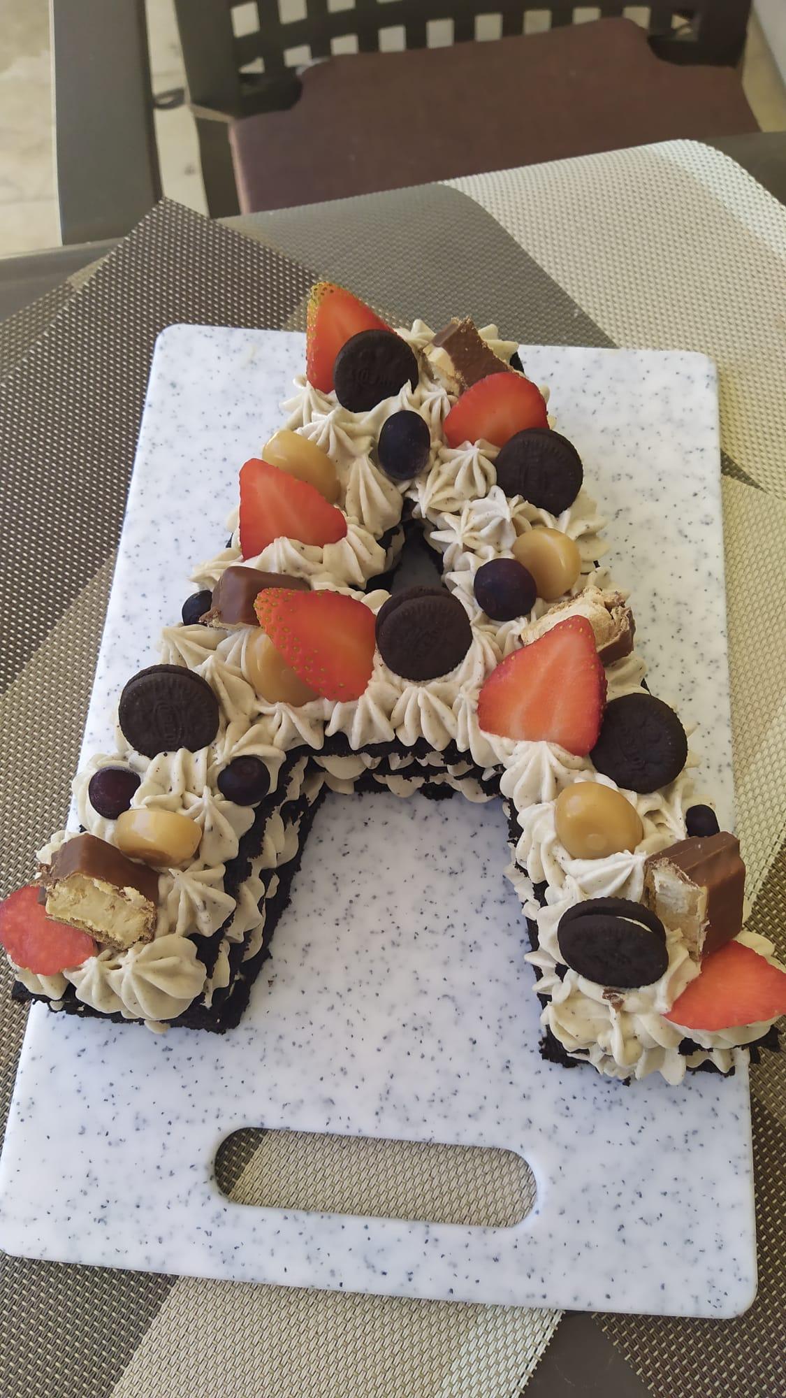 A full oreo letter cake
