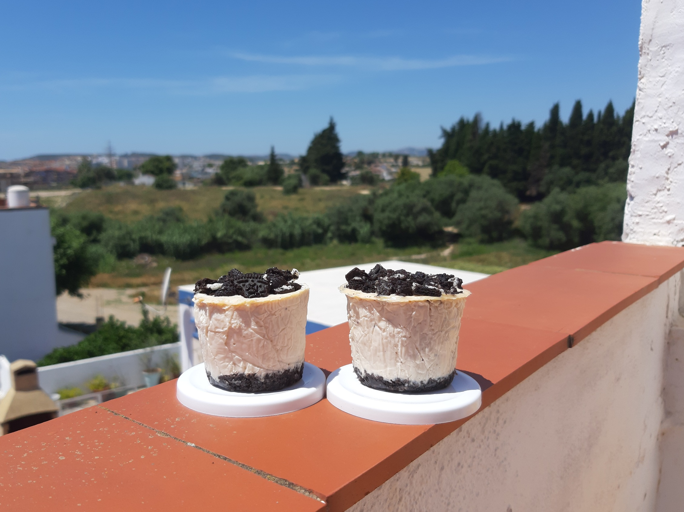 Mini cheesecake oreo con sorpresa