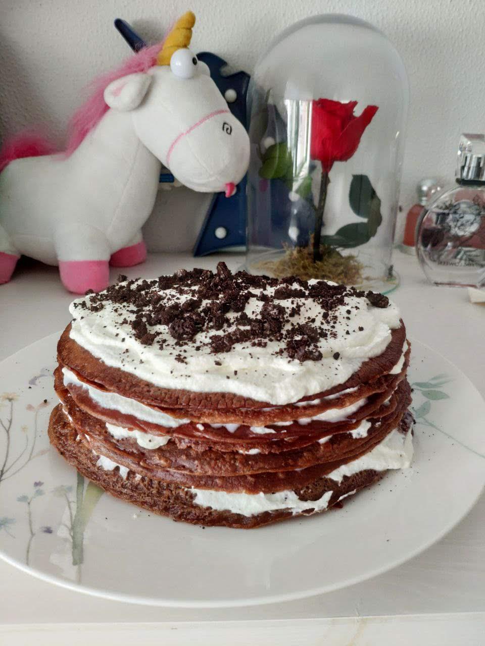 tarta de crepes y oreo
