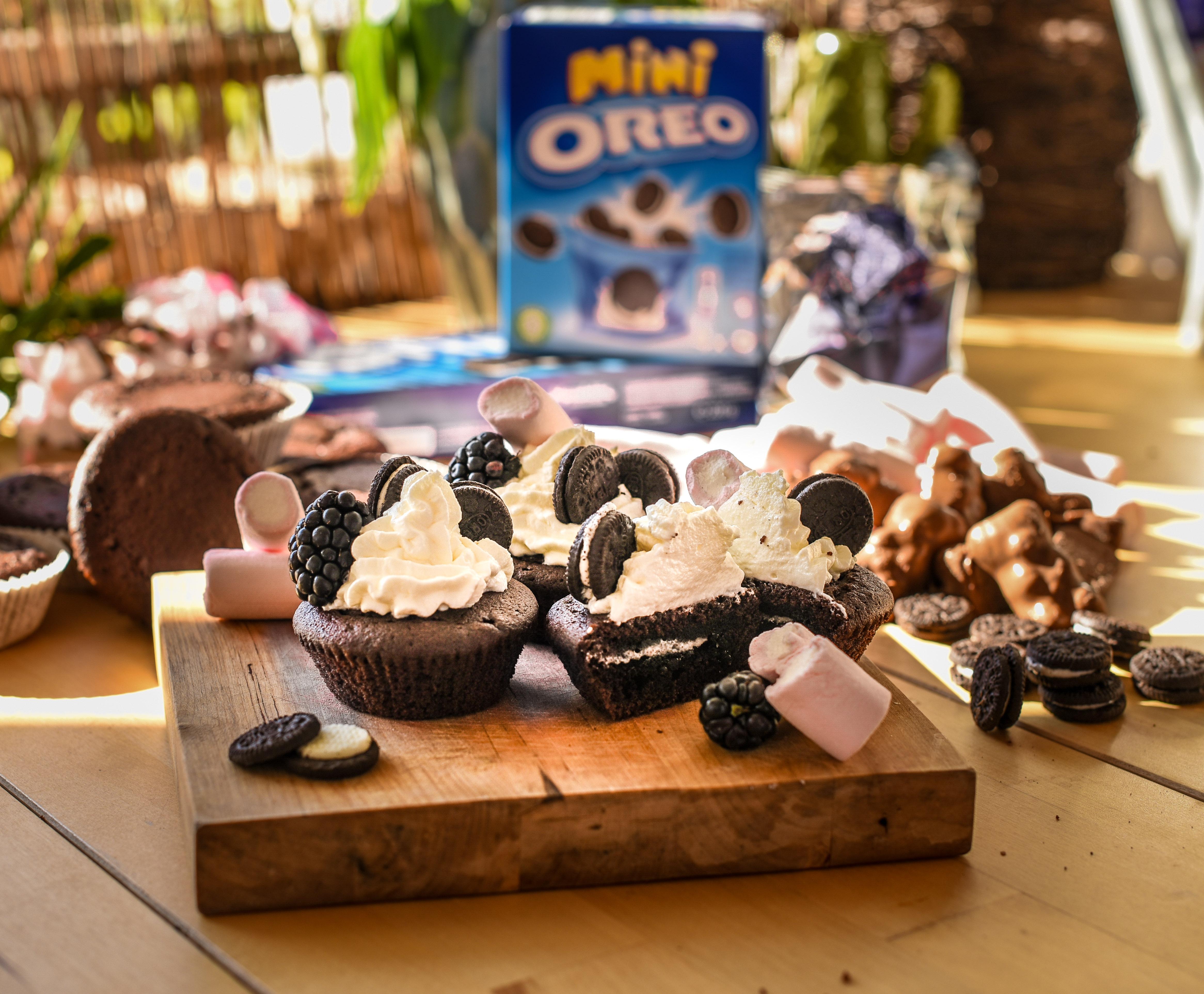 Oreo & Marshmallow muffin